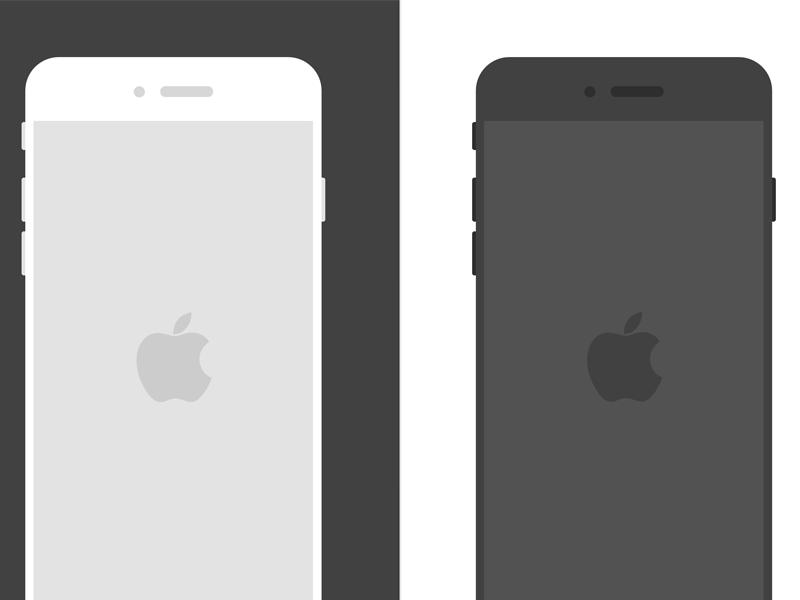 Free Sketch Flat Iphone 6 Sketch Templates Freebie